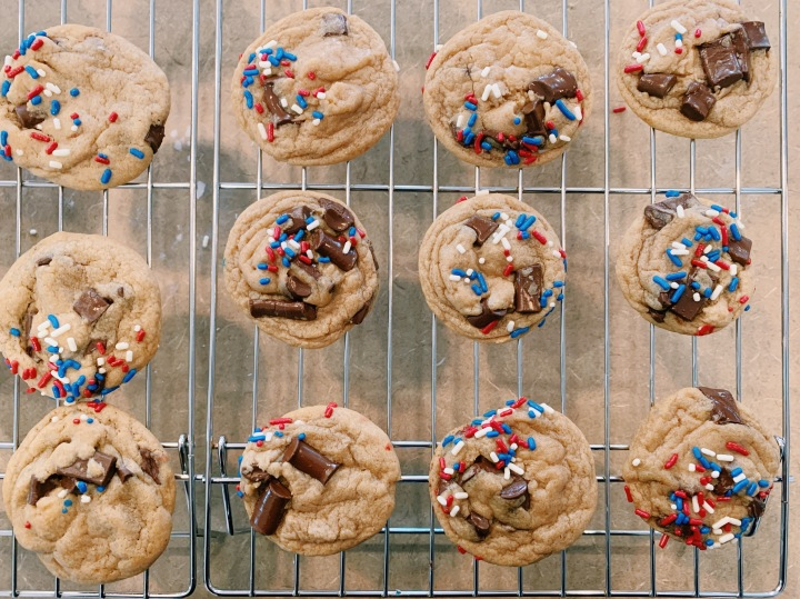 Soft & Chewy Chocolate Chip Cookies, Memorial DayEdition