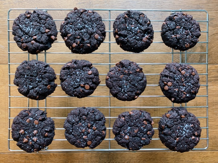 Photo of chocolate almond butter cookies
