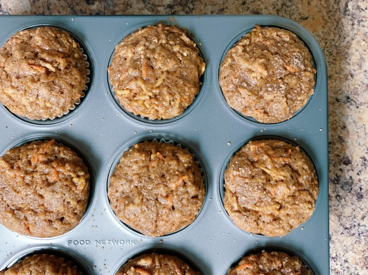 Spice Muffins with Pumpkin, Carrot, andApple