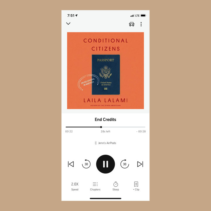 Book #77 of 2020 | Conditional Citizens by Laila Lalami